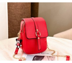 Маленькая женская сумка-клатч красная