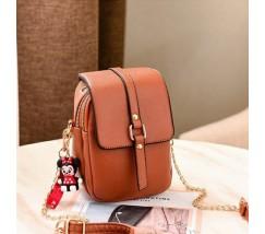 Маленькая женская сумка-клатч коричневая