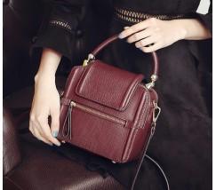 Бордовая женская сумка