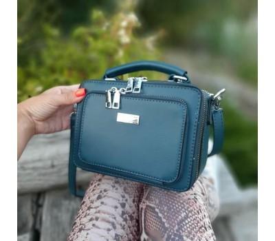 Женская маленькая сумка-клатч синяя