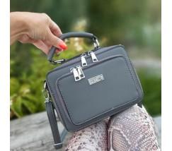 Женская маленькая сумка-клатч серая