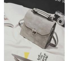 Женская компактная сумка серая
