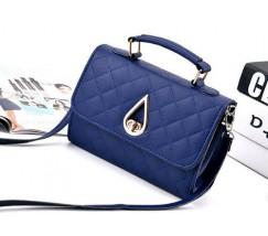 Женская маленькая сумка Капелька синяя