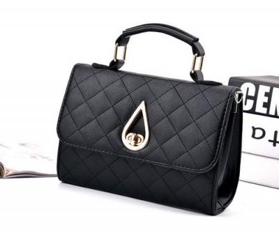 Женская маленькая сумка Капелька черная
