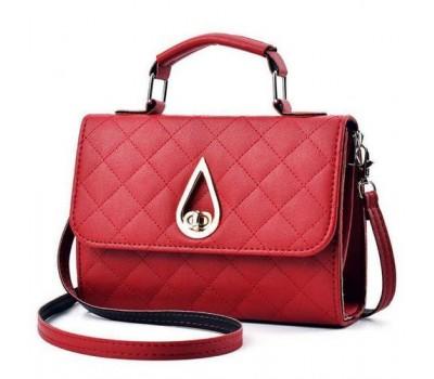 Женская маленькая сумка Капелька красная