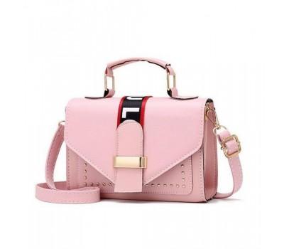 Женская маленькая сумочка розовая