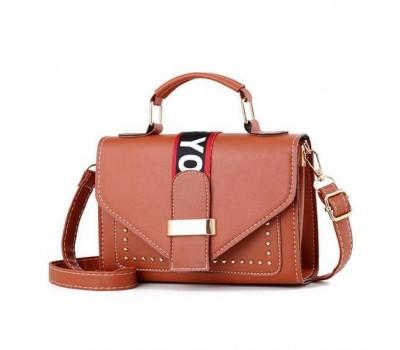 Женская маленькая сумочка коричневая