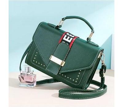 Женская маленькая сумочка зеленая