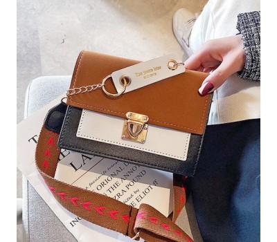 Матовая женская сумочка клатч коричневая
