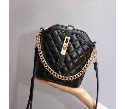 Женская мини сумочка клатч черная
