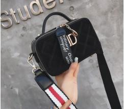Женская маленькая сумка-клатч черная