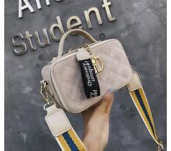 Женская маленькая сумка-клатч бежевая