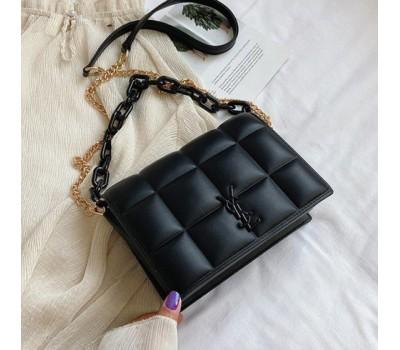Женская сумка черная Yves Saint Laurent копия