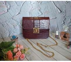 Бордова жіноча сумка