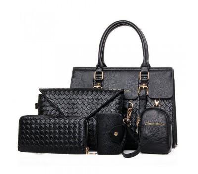 Женская сумка черная в наборе 5в1