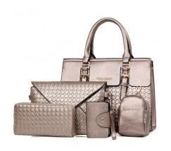 Женская сумка бронзовая в наборе 5в1