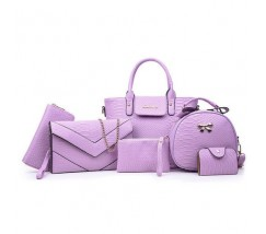 Жіноча сумка набір 6в1 фіолетовий