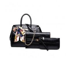 Набор сумок 3 в 1 под крокодила, черный