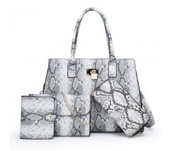 Набор сумок под кожу змеи 4 в 1 серый