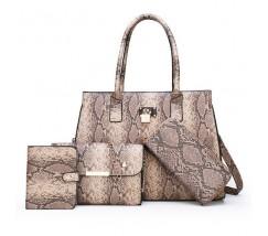 Набор сумок под кожу змеи 4 в 1 бежевый