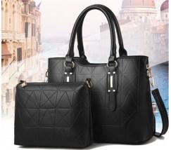 Набір сумка і клатч чорний