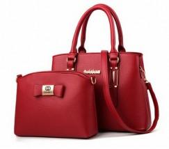Набор сумка и мини сумка клатч Chanel красная