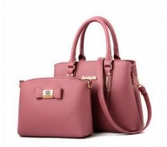 Набор сумка и мини сумка клатч Chanel розовая