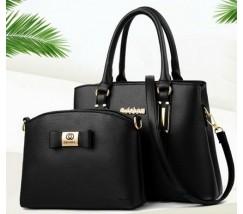 Набор сумка и мини сумка клатч Chanel черная
