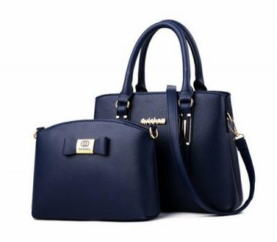 Набор сумка и мини сумка клатч Chanel синяя