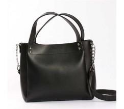 Стильная повседневная сумка на плечо черная