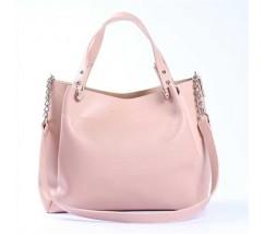 Стильная повседневная сумка на плечо розовая