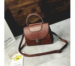 Женская сумка Винтаж темно-коричневая