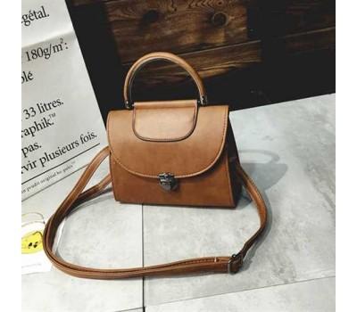 Женская сумка Винтаж светло-коричневая