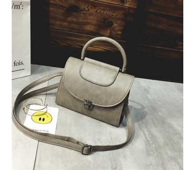 Женская сумка Винтаж серая