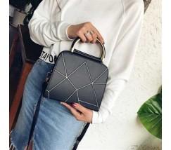 Компактная женская сумка черная