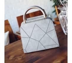 Компактная женская сумка серая