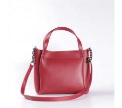 Стильная повседневная сумка на плечо красная