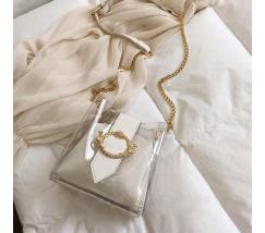 Прозрачная сумка белая
