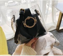 Прозрачная сумка черная