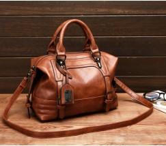 Містка сумка жіноча коричнева
