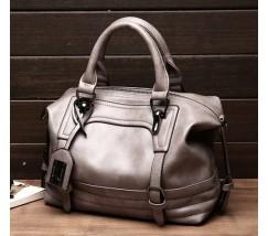 Містка сумка жіноча сіра
