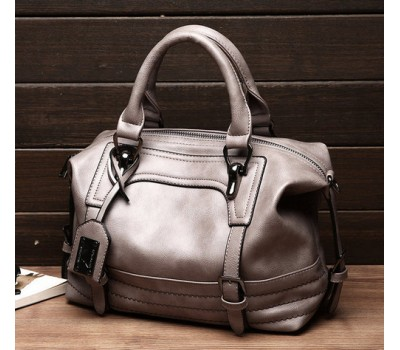 Вместительная сумка женская серая