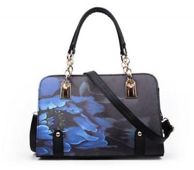 Красивая сумка с узорами черная