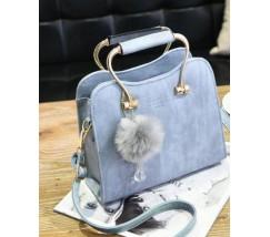 Гарна каркасна жіноча сумка блакитна