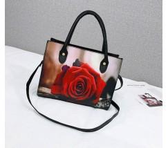 Женская сумка с принтом розы