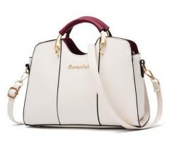 Елегантна жіноча сумка молочного кольору