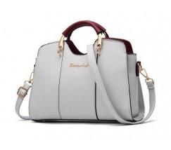 Елегантна жіноча сумка сірого кольору