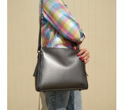 Женская сумкая серебро