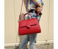 Жіноча велика сумка-саквояж червона