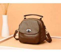 Компактная сумка-рюкзак коричневая